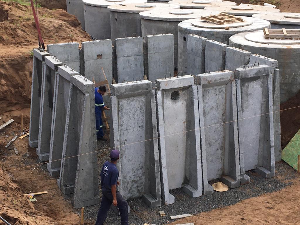 Imagem sobre Sistema construtivo pré-moldado permite construção de tanques de tratamento de água e saneamento mais econômicos