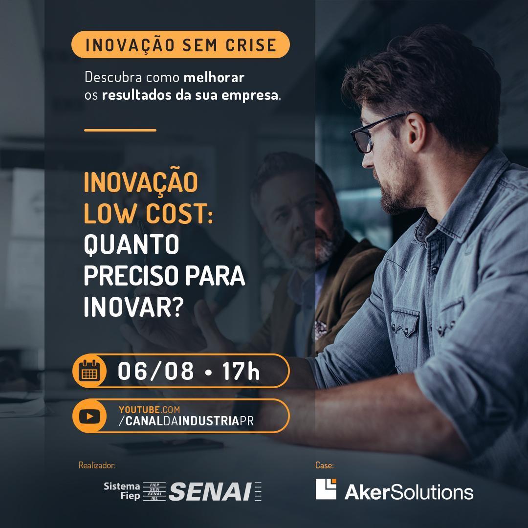 Imagem sobre Webinar do Senai traz sugestões para inovar com pouco investimento